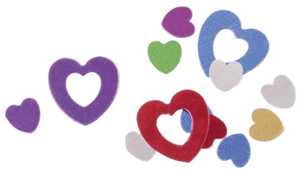 Konfetti 2 Herzen sortiert