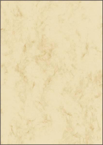 Marmor Papier, beige, A4, 90 g qm, 25 Blatt
