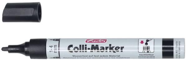 HERLITZ Permanentmarker Colli schwarz 8060105 1-4mm