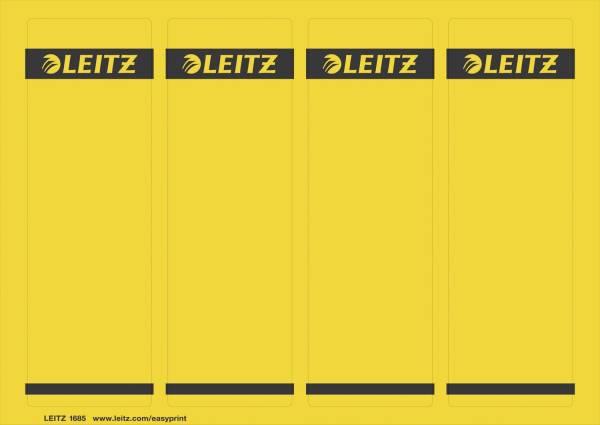 1685 PC beschriftbare Rückenschilder Papier, kurz breit,100 Stück, gelb