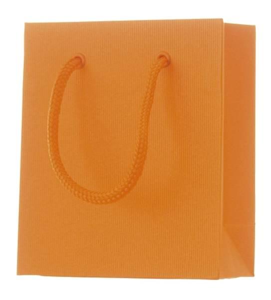 Geschenktragetasche Uni orange klein