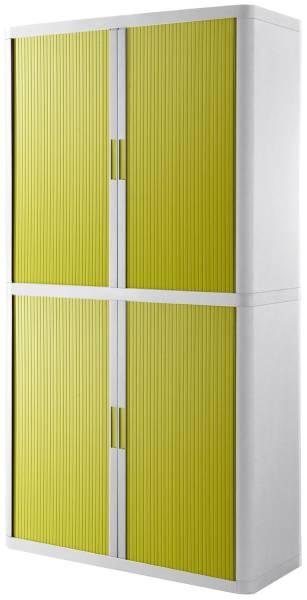 Rolladenschrank easyOffice 2 Meter Schrank, inkl 4 Fachböden, weiß grün