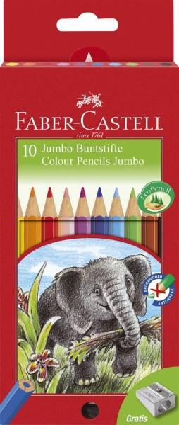 FABER CASTELL Farbstiftetui Jumbo 10ST lackiert 111210 Kartonetui
