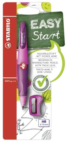 Ergonomischer Druckbleistift zum Schreibenlernen EASYergo 3 15, pink lila, R