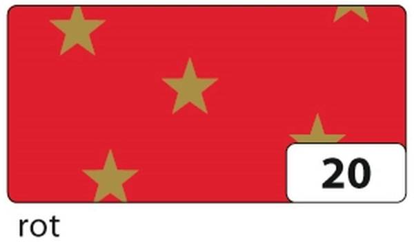 FOLIA Fotokarton 50x70cm Sterne rot 5820 300g