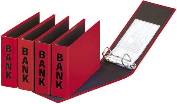 Bankordner Color Einband A5 , 50 mm, Color Einband, rot
