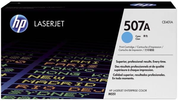 HP Lasertoner Nr. 507A cyan CE401A