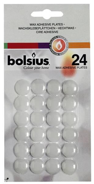 BOLSIUS Wachsklebeplättchen weiß 24ST 103690203800