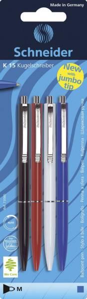 SCHNEIDER Kugelschreiber K15 4ST sort. 73080