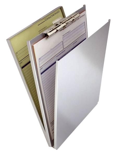 Formularhalter A Holder A4 Aluminium mit Fach und Zwischenlage