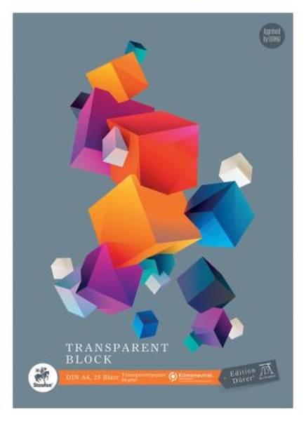 Transparentblock A4, 25 Blatt, 80g qm
