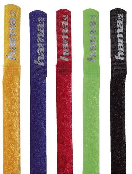 HAMA Kabelbinder 5ST farbig 20535 21,5cm