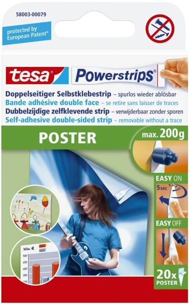 Powerstrips Poster ablösbar, Tragfähigkeit 200 g, weiß,20 Stück®