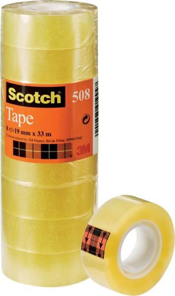 SCOTCH Klebefilm 8RL transparent 5081933 19 mm 33 m
