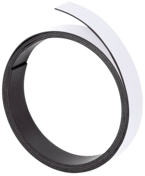 Magnetband, 100 cm x 5 mm, 1 mm, weiß
