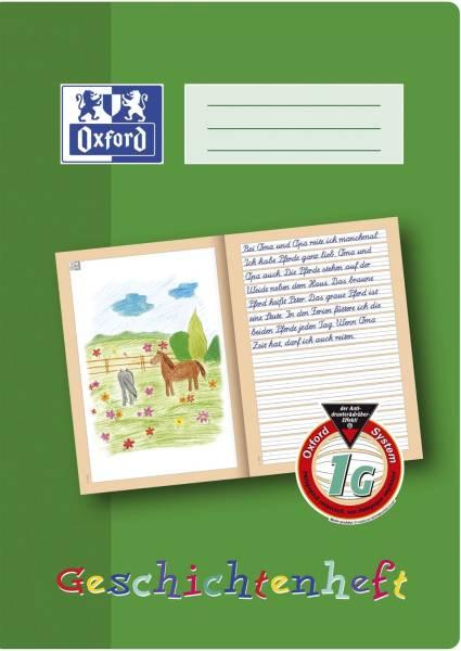 Schreiblernheft LIN 1G A4, 16 Blatt, 90g qm, Geschichtenheft
