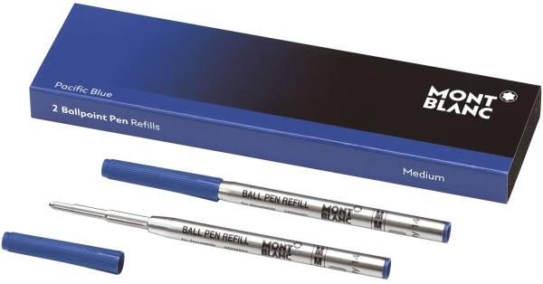 MONT BLANC Kugelschreibermine 2ST M royalblau 128214/124493 Grossraum