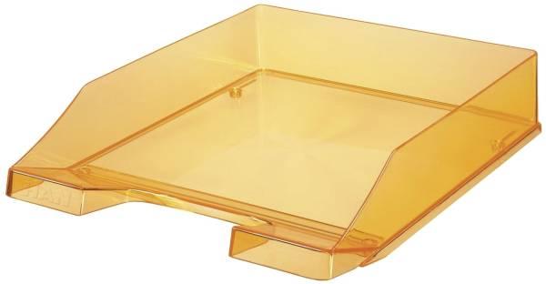 Briefkorb KLASSIK A4, orange transparent