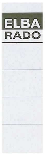 Einsteck Rückenschilder kurz breit, weiß, 10 Stück