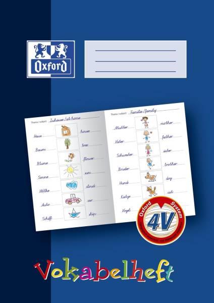 Lernsysteme Vokabelheft LIN4V A4, 16 Blatt, 4V (3 spaltig zum Malen)