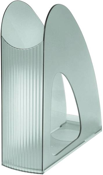 Stehsammler TWIN DIN A4 C4, transluzent grau