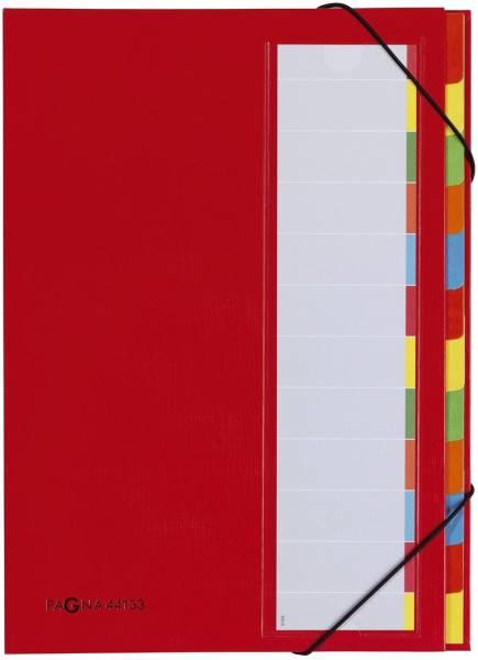Deskorganizer 12 Fächern, rot