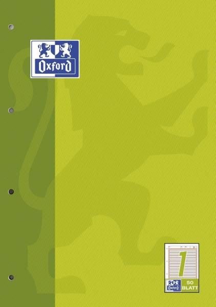 Arbeitsblock Lin 1 A4, 50 Blatt, 90 g qm, 4 fach Lochung