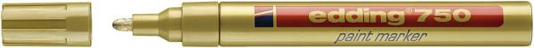 EDDING Lackmalstift 750 2-4mm gold 4-750053 Rundspitze