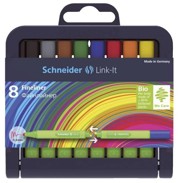Fineliner Link It, 8 Farben im Etui
