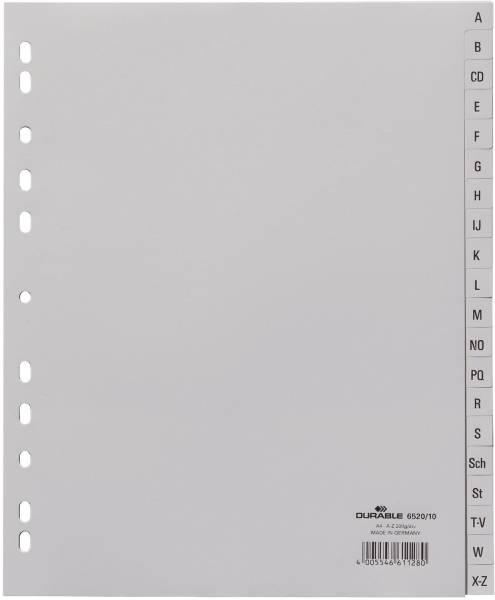 Register A Z, PP, grau, A4 Überbreite, 12 Blatt