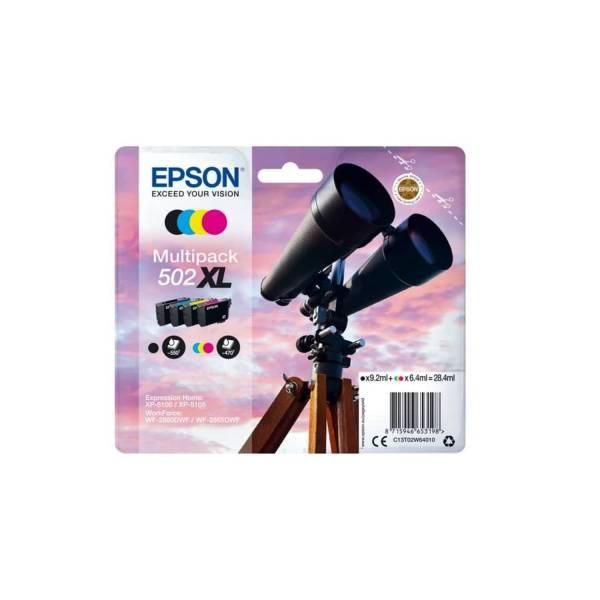 EPSON Multipack Nr.502XL sw,c,m,y C13T02W64010