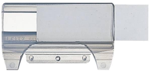 6116 Vollsichtreiter, 60 mm, 4 zeilig, Kunststoff, transparent
