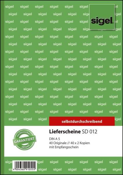 SIGEL Lieferscheinbuch SD A5 SD012 3x40BL