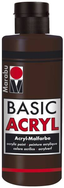 Basic Acryl, Dunkelbraun 045, 80 ml