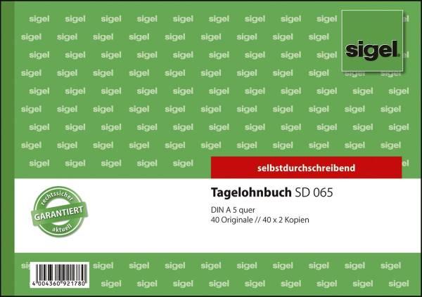 Tagelohnbuch A5 quer, 1 , 2 und 3 Blatt bedruckt, SD, MP, 3 x 40 Blatt