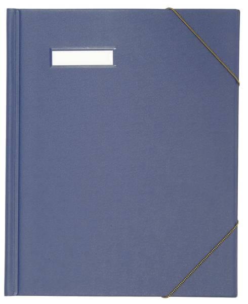 Umlaufmappe colors, Karton, mit PVC Folie veredelt, A4, blau
