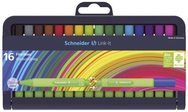 Fineliner Link It, 16 Farben im Etui