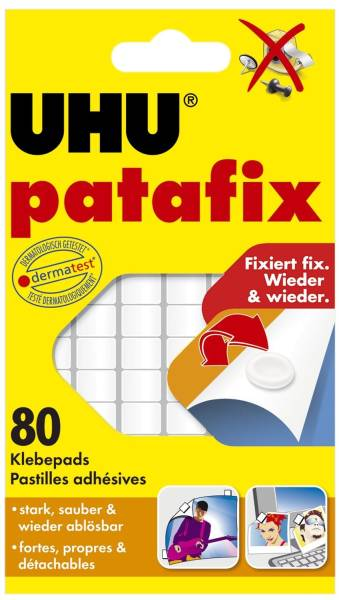 UHU Klebestücke Patafix weiß 48810 80ST