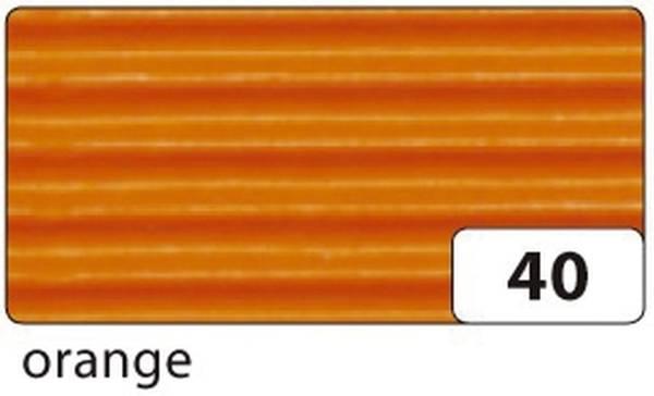Bastelwellpappe 50 x 70 cm, orange