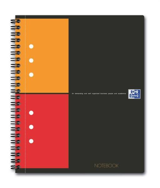 International Notebook Hardcover, A5+, kariert, 80 Blatt, grau