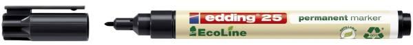 25 Permanentmarker EcoLine nachfüllbar, 1 5 mm, schwarz