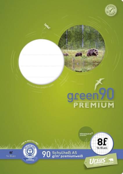 STAUFEN GREEN Heft LIN8f A5 16 Blatt rautiert 040780008 mit Rand 90g