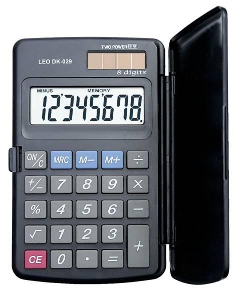 LEO Taschenrechner DK029 8-stellig 70x115x180mm BxHxT