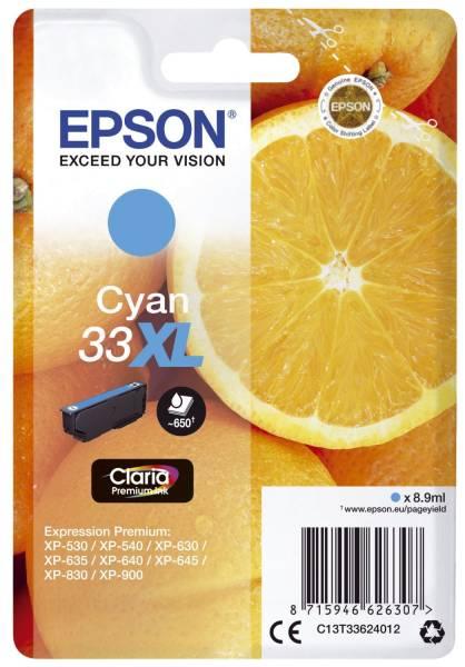 EPSON Inkjetpatrone Nr. 33XL cyan C13T33624012