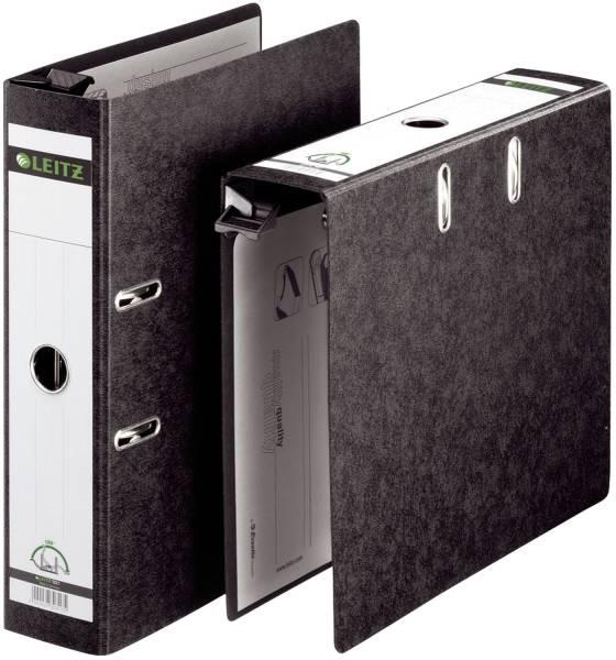 1821 Qualitäts Hängeordner , A4, Hartpappe, breit, schwarz