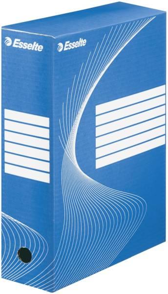 Archiv Schachtel DIN A4, Rückenbreite 10 cm, blau