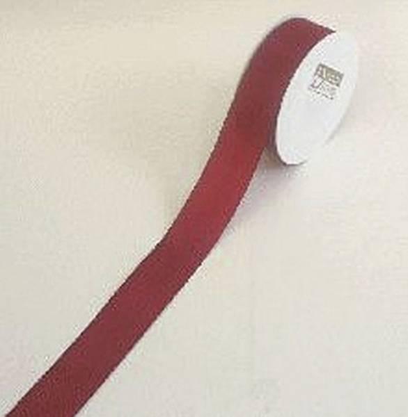 Basic Taftband 40 mm x 50 m, dunkelrot