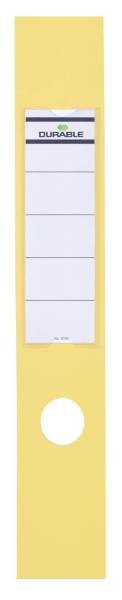 Rückenschilder ORDOFIX lang breit, gelb, 10 Stück®