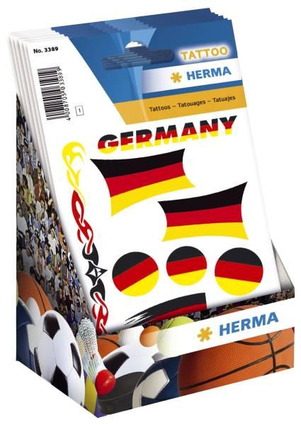 HERMA Tattoo Deutschland-Fahnen 7 Stück 3389