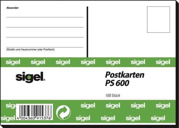 SIGEL Postkarten A6 100ST PS600